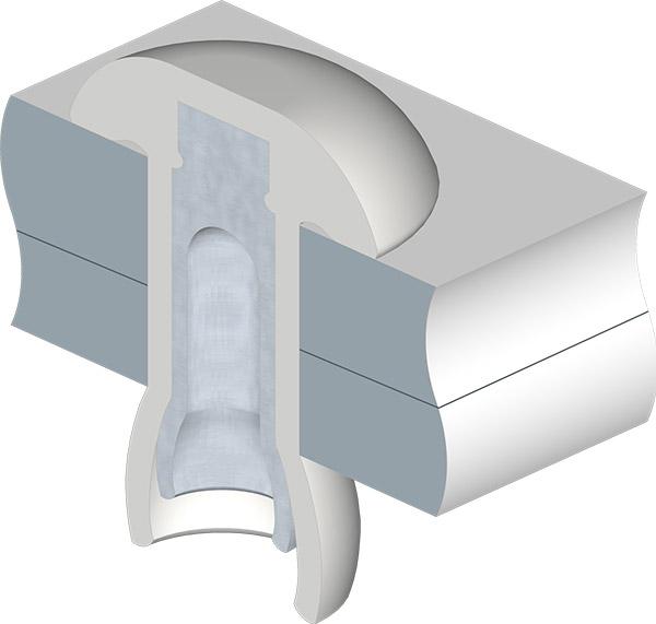 Mega Lock Cutaway Illustration