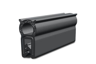 Black sponge rubber gasket (EPDM). Compression. Edge protection. Outdoor cabinet gasket.
